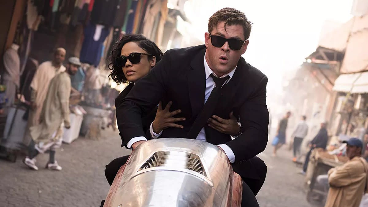 Despite the combined charms of Chris Hemsworth and Tessa Thompson, the return of the <em>Men in Black</em> franchise failed to catch fire. It was a globe-trotting sci-fi caper that wasn't entirely without flashes of fun, but they were spread too thinly over the two-hour runtime. This is one franchise revival that probably shouldn't go any further. (Credit: Sony)