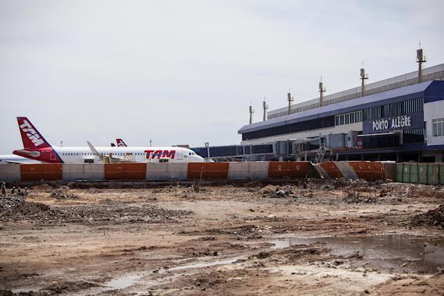 "This Feb. 2014 photo released by Portal da Copa shows the Salgado Filho International Airport under construction in Porto Alegre, Brazil, January, 2014. Brazil's outdated airports were a problem long before the country was awarded the World Cup in 2007. Former Brazilian football (soccer) federation president Ricardo Teixeira used to say that Brazil had three main problems to solve ahead of the World Cup: ""Airports, airports and airports."" (AP Photo/Portal da Copa, Gabriel Heusi)"