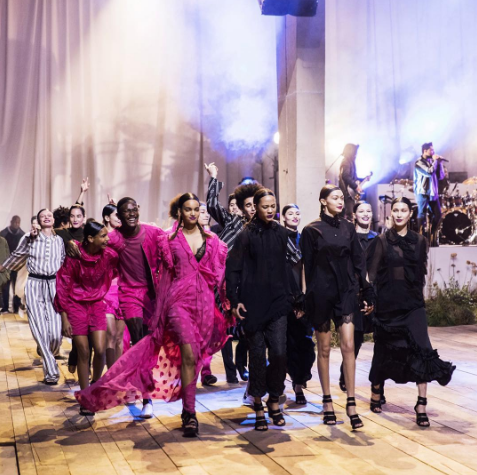 <p>Bella Hadid and her ex The Weeknd had yet another awkward runway run-in at the H&M show. [Photo: H&M/ Instagram] </p>