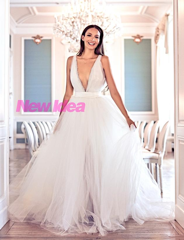 Ricki-Lee in her custom-made bridal gown by Johanna Johnson, only in this week's New Idea.