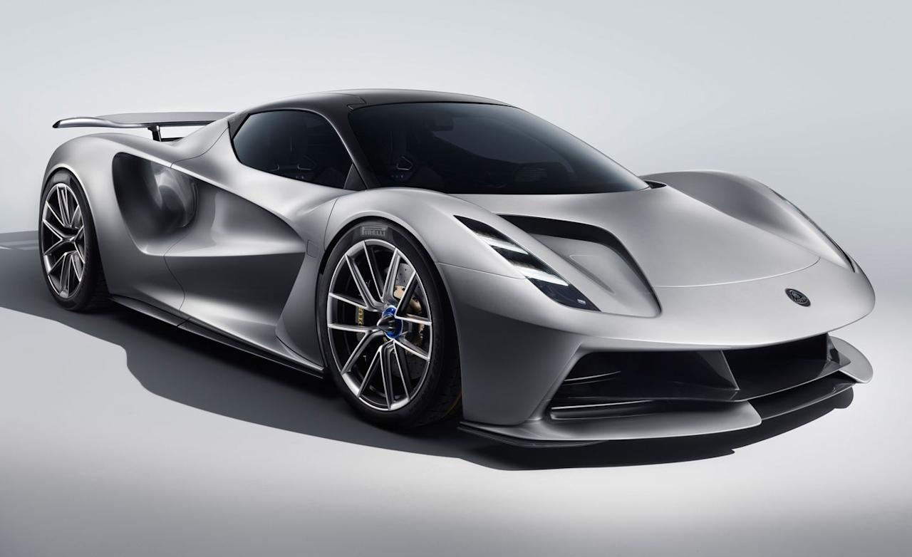 "<p>Lotus is planning on making another track-ready carbon-fiber car, but in a twist, which it makes 1254 lb-ft of, it'll be all-wheel drive, make an absurd 1972 horsepower, and (gasp) will be an EV. Lotus is planning to call this monster <a href=""https://www.caranddriver.com/lotus/evija"" target=""_blank"">the Evija</a>, and only 130 will be made, <a href=""https://www.caranddriver.com/news/a27148491/lotus-type-130-electric-hypercar-confirmed/"" target=""_blank"">at a price of $2.1 million</a> each. There's no word on what range can be expected, but Lotus claims that it can charge up to 80 percent in 12 minutes thanks to ultrafast charging rates. Other track-ready goodies include a pushrod-operated rear suspension and extensive aerodynamic bits that include a diffuser with a drag-reduction system and an adjustable rear wing. —<em>Mihir Maddireddy</em></p>"