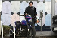<p>Keanu Reeves was spotted going for a ride on his motorcycle in Los Angeles.</p>