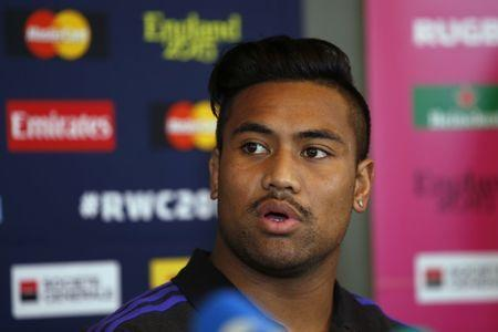 Rugby Union - New Zealand Press Conference - Oatlands Park Hotel, Weybridge, Surrey - 22/10/15 New Zealand's Julian Savea during the press conference Action Images via Reuters / Paul Childs Livepic