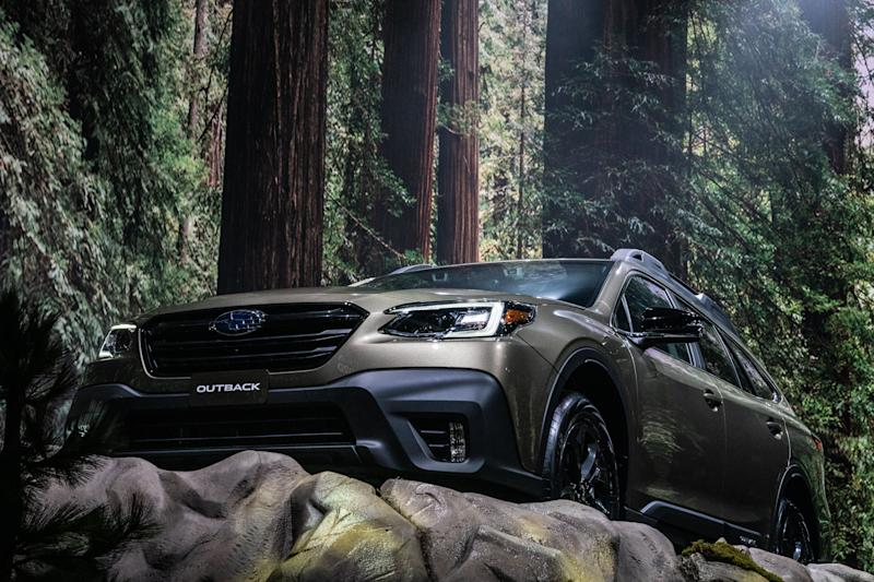 A Subaru Corp. Outback sports utility vehicle (SUV) is displayed during the 2019 New York International Auto Show (NYIAS) in New York, U.S., on Wednesday, April 17, 2019. The NYIAS, North America's first and largest-attended auto show dating back to 1900, showcases an incredible collection of cutting-edge design and extraordinary innovation. Photographer: Jeenah Moon/Bloomberg via Getty Images