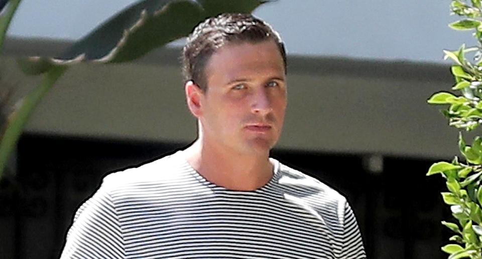 Ryan Lochte on an early-morning walk in Beverly Hills. (Photo: Backgrid)