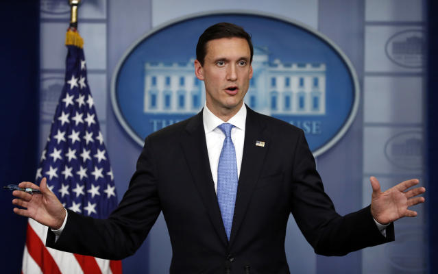 White House Homeland Security adviser Tom Bossert speaks during the daily news briefing at the White House, Sept. 11, 2017. (Photo: Carolyn Kaster/AP)