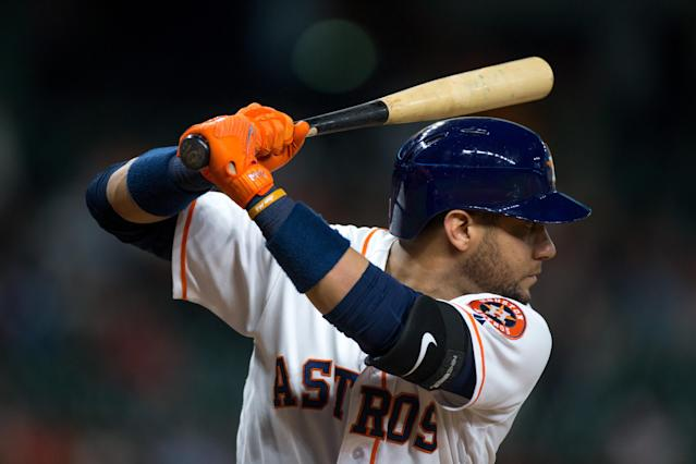 Yuli Gurriel received loud cheers from fans during his first at-bat after his suspension for a racial gesture. (Getty Images)