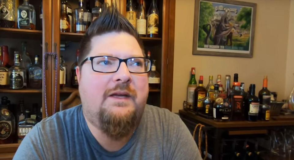 Del Hall swapped food for beer in the name of Lent. [Photo: YouTube/Del Hall]