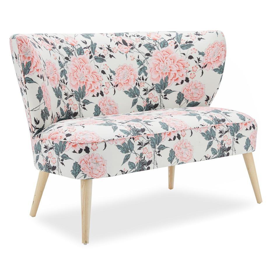 """<p><strong>Drew Barrymore Flower Home</strong></p><p>walmart.com</p><p><strong>$918.18</strong></p><p><a href=""""https://go.redirectingat.com?id=74968X1596630&url=https%3A%2F%2Fwww.walmart.com%2Fip%2F756165957&sref=https%3A%2F%2Fwww.housebeautiful.com%2Fshopping%2Fg36067575%2Fwalmart-shopping%2F"""" rel=""""nofollow noopener"""" target=""""_blank"""" data-ylk=""""slk:Shop Now"""" class=""""link rapid-noclick-resp"""">Shop Now</a></p><p>I love this fabric print; it's so romantic and refreshing.</p>"""