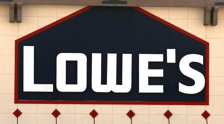 FILE PHOTO: A view of the sign outside the Lowes store in Westminster