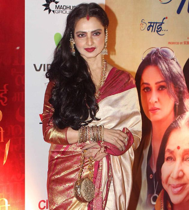 Rekha at the premiere of Mai