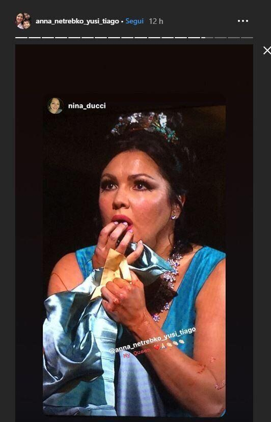 "La Netrebko orgogliosa su Instagram, scherza: ""Luca Salsi wake up, su much fun"""