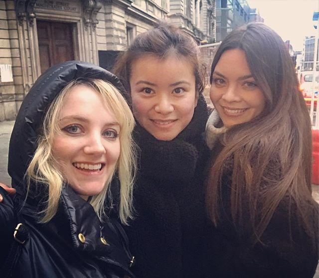 """<p>Three of the female actresses: <a href=""""http://www.elle.com/uk/life-and-culture/a25247085/harry-potter-cast-reunion-emma-watson-evanna-lynch-dancing-with-the-stars/"""" rel=""""nofollow noopener"""" target=""""_blank"""" data-ylk=""""slk:Lynch (Luna Lovegood"""" class=""""link rapid-noclick-resp"""">Lynch (Luna Lovegood</a>), Leung (Cho Chang) and Byrne (Pansy Parkinson), showed the sisterly bond they formed during filming with a selfie in January.</p><p><a href=""""https://www.instagram.com/p/Bs0vSmsBE49/"""" rel=""""nofollow noopener"""" target=""""_blank"""" data-ylk=""""slk:See the original post on Instagram"""" class=""""link rapid-noclick-resp"""">See the original post on Instagram</a></p>"""