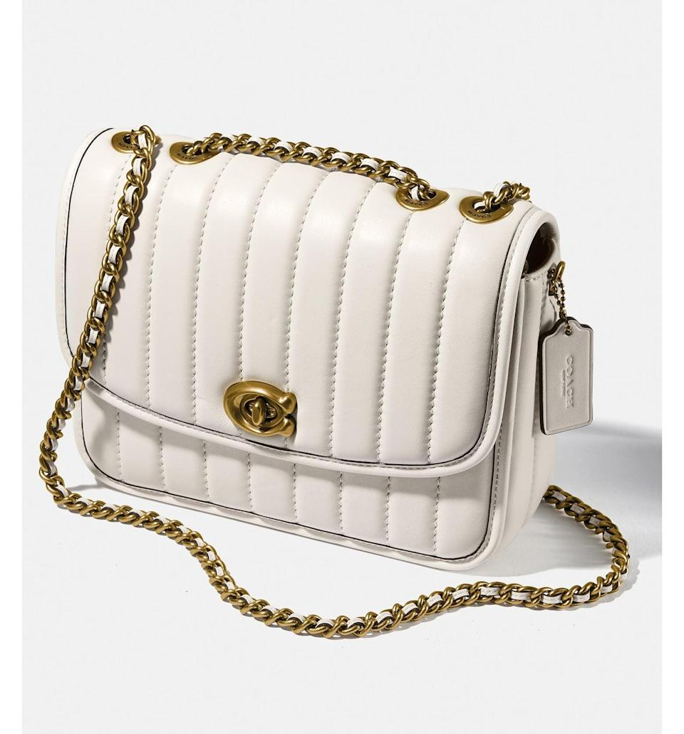 <p><span>Coach Madison Quilted Leather Shoulder Bag</span> ($371, originally $495)</p>