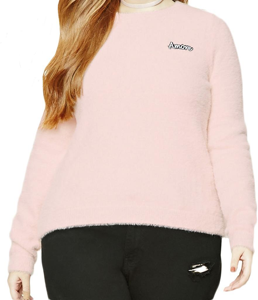 """<p>$22.90,<a rel=""""nofollow noopener"""" href=""""http://www.forever21.com/Product/Product.aspx?BR=plus&Category=plus_size-sweater&ProductID=2000226690&VariantID="""" target=""""_blank"""" data-ylk=""""slk:Forever 21"""" class=""""link rapid-noclick-resp"""">Forever 21</a> </p>"""
