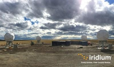 Iridium's new ground station in Punta Arenas, Chile.