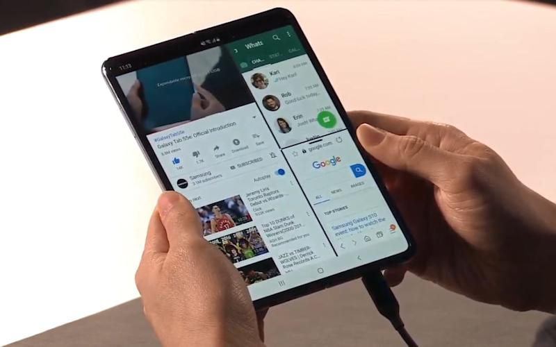 Samsung recently announced it would be launching a folding phone