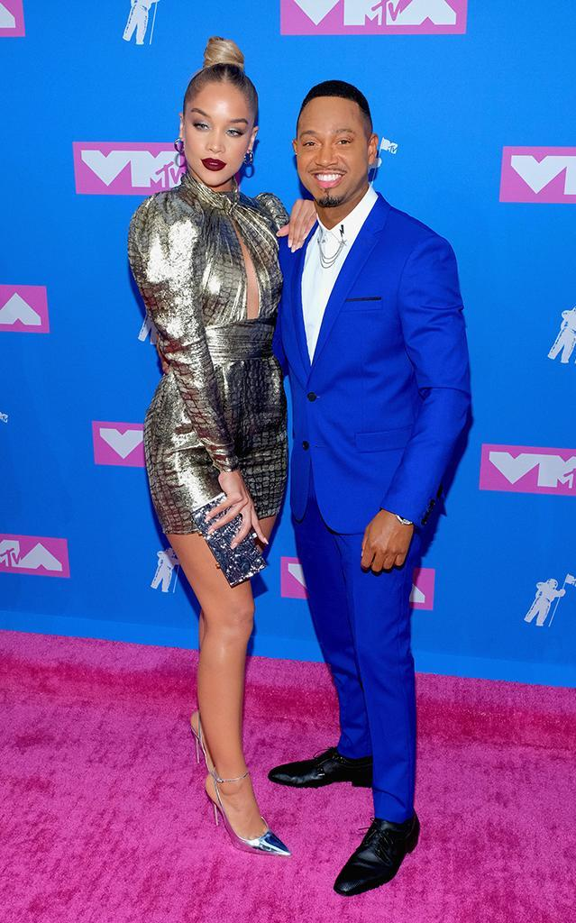 <p>Jasmine Sanders and Terrence J attend the 2018 MTV Video Music Awards at Radio City Music Hall on August 20, 2018 in New York City. (Photo: Matthew Eisman/FilmMagic) </p>
