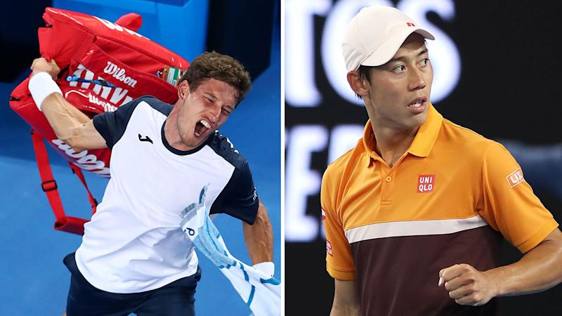 Marathon Man Nishikori Outlasts Carreno Busta In Fifth Set Tie-break