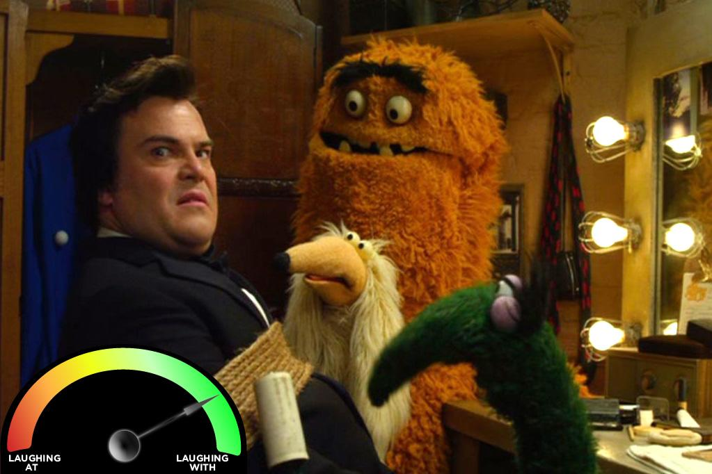 """<b>Jack Black</b><br>""""<a href=""""http://movies.yahoo.com/movie/the-muppets/"""">The Muppets</a>"""" (2011)<br>Okay, Black's really funny in this, but a small part of me (roughly 20%) is always a bit annoyed by him. It's almost as though Black is trying to annoy me."""