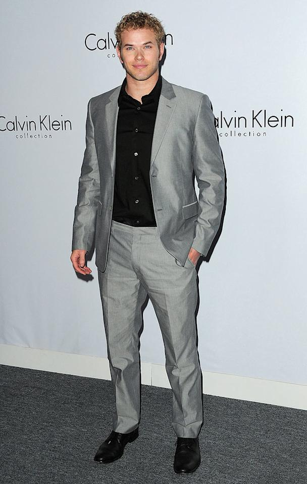 """It's been a good week for Kellan Lutz fans. First, we learned he'll co-star in an upcoming rom-com with Mandy Moore, then we get to see the Cullen brother all cleaned up in this dapper Calvin Klein suit. Jordan Strauss/<a href=""""http://www.wireimage.com"""" target=""""new"""">WireImage.com</a> - January 28, 2010"""