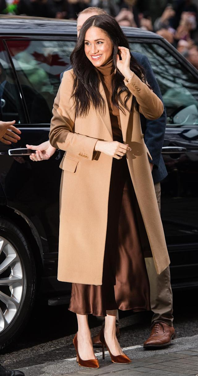 Meghan arrives at Canada House on January 07, 2020 in London, England. [Photo: Getty]