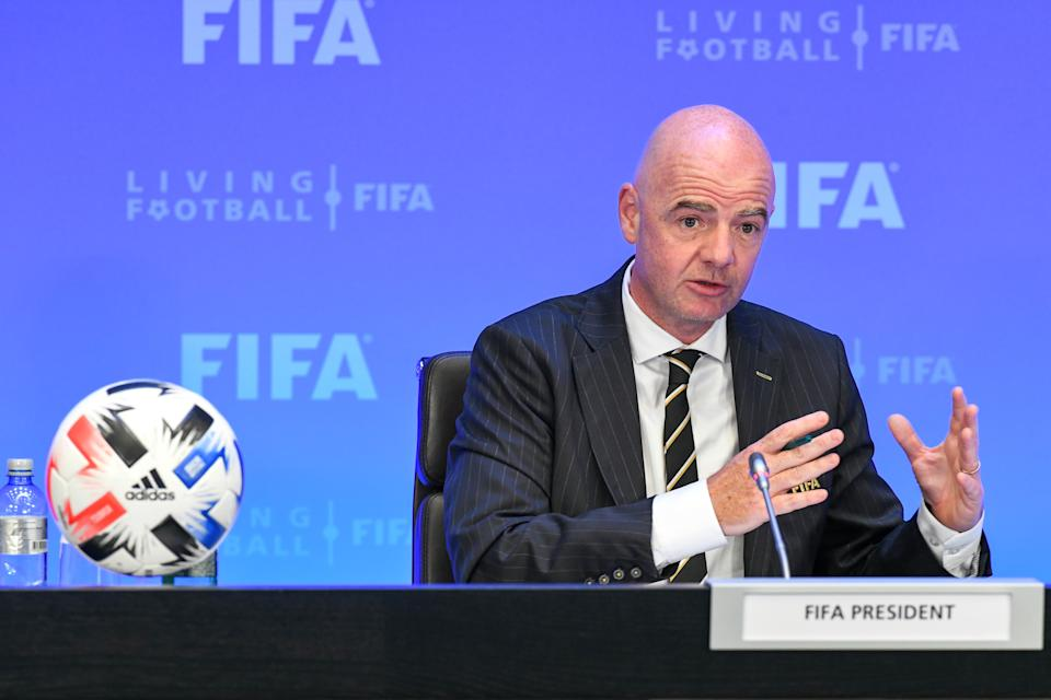 FIFA President Gianni Infantino has tested positive for COVID-19, the organization announced. (Ben Moreau/Getty Images)
