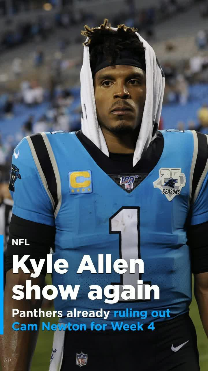 finest selection c3f25 87fb3 Panthers rule Cam Newton out for Week 4, Kyle Allen show continues