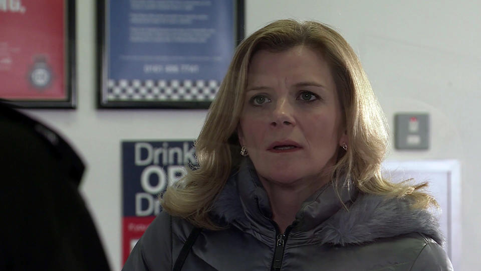 FROM ITV  STRICT EMBARGO - No Use Before Tuesday 16th March 2021  Coronation Street - Ep 10282  Wednesday 24th March 2021 - 2nd Ep  Having reached a decision Leanne Tilsley [JANE DANSON] goes to the police station and reports Harvey for his drugs operation, only to find herself arrested! Leanne fears sheÕs made a terrible mistake.  Picture contact David.crook@itv.com   This photograph is (C) ITV Plc and can only be reproduced for editorial purposes directly in connection with the programme or event mentioned above, or ITV plc. Once made available by ITV plc Picture Desk, this photograph can be reproduced once only up until the transmission [TX] date and no reproduction fee will be charged. Any subsequent usage may incur a fee. This photograph must not be manipulated [excluding basic cropping] in a manner which alters the visual appearance of the person photographed deemed detrimental or inappropriate by ITV plc Picture Desk. This photograph must not be syndicated to any other company, publication or website, or permanently archived, without the express written permission of ITV Picture Desk. Full Terms and conditions are available on  www.itv.com/presscentre/itvpictures/terms