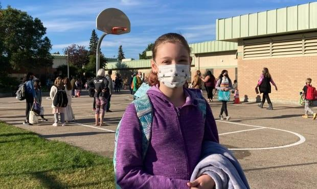 Sarah Broderick attends Brunskill Elementary School. She says she has one of the smallest classes and they take precautions.