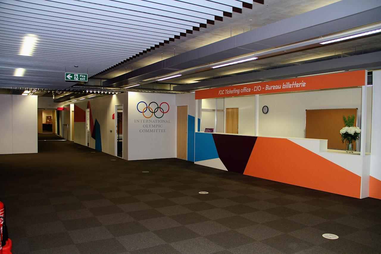 LONDON, ENGLAND - JULY 14: The International Olympic Committee Room is located on the first floor of the Main Press Centre at Olympic Park on July 13, 2012 in London, England.  (Photo by Stanley Chou/Getty Images)