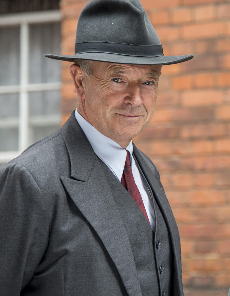 """This image released by PBS shows Michael Kitchen from the series """"Foyle's War,"""" on """"MASTERPIECE Mystery!"""" Precision is Kitchen's hallmark, such as the level gaze or tilt of the head he uses to great effect in """"Foyle's War,"""" which wraps its latest PBS season on Sunday. (AP Photo/PBS- ITV, Bernard Walsh)"""