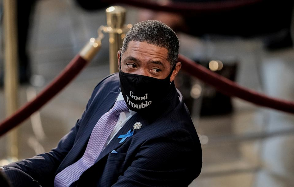 Rep. Cedric Richmond (D-LA) attends the ceremony for Rep. John Lewis (D-GA) at the U.S. Capitol Rotunda in Washington, D.C., U.S. July 27, 2020. Michael A. McCoy/Pool via REUTERS