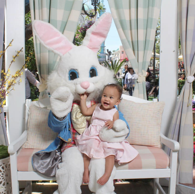 <p>Luna, who is John and Chrissy's only child, will actually celebrate her first birthday Easter weekend. May she look this precious and perfect at her birthday party — you know, until the cake arrives and she's covered in frosting. (Photo: Vilailuck Teigen via Instagram) </p>