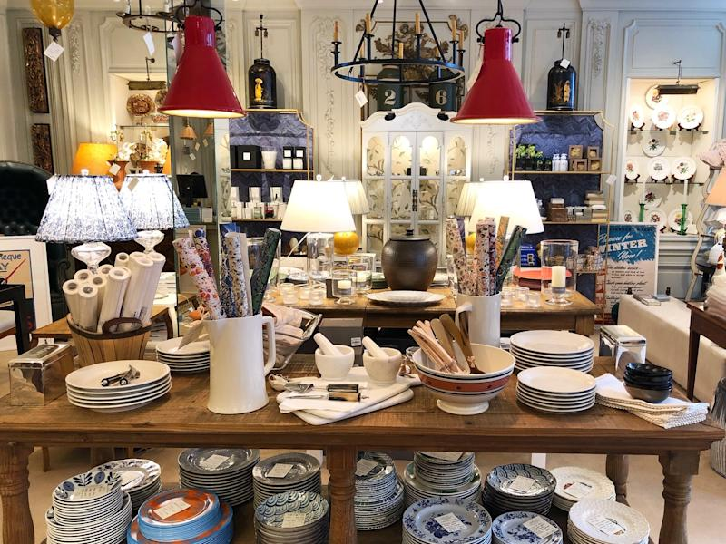 The wares on offer at the Newport Lampshade Company