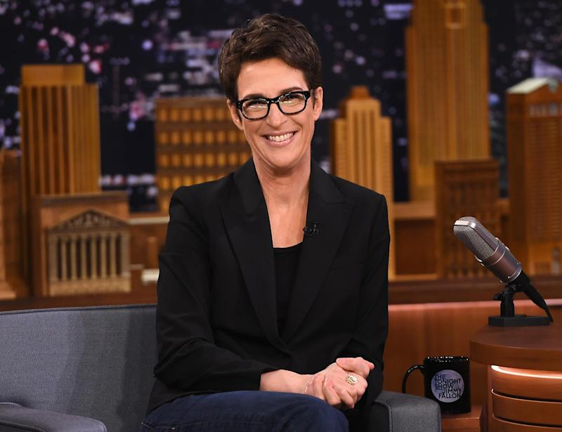 "Rachel Maddow Visits ""The Tonight Show Starring Jimmy Fallon"" at Rockefeller Center: Getty Images for NBC"