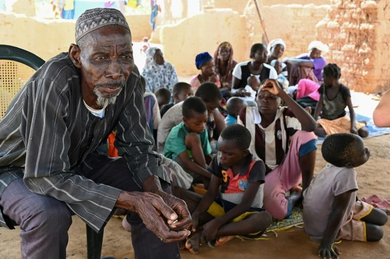 Belem Boureima, a 74-year-old farmer, and his family are among the hundreds of thousands of people who have been displaced by jihadist violence in Burkina Faso