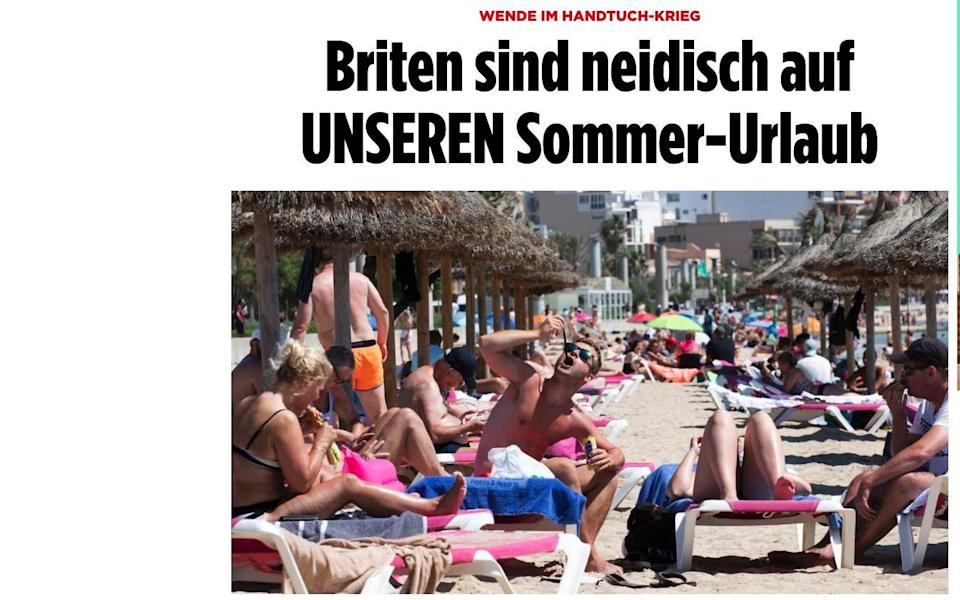"""""""Brits envy our summer holidays,"""" writes Bild, the country's highest-selling newspaper"""