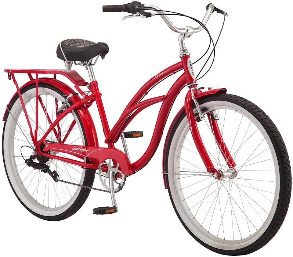 <p>Everyone dreams of a red bike, and this <span>Schwinn Sanctuary 7 Comfort Cruiser Bike</span> ($300) delivers.</p>