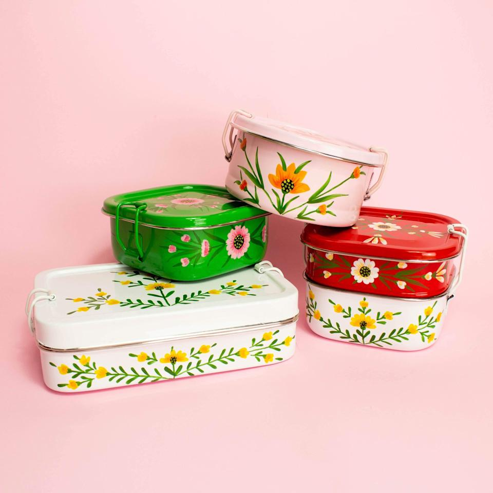"""<h2>Noah's Ark Pink Floral Tiffin</h2><br>True, a to-go container isn't the sexiest gift — but when it's as beautifully designed as one of these artisan-made tiffins, it becomes a present that's both gorgeous and practical. Send this to your bestest bestie — she can pack it with treats for that socially distant picnic that you're planning for the spring.<br><br><em>Shop <strong><a href=""""https://shop.globein.com/"""" rel=""""nofollow noopener"""" target=""""_blank"""" data-ylk=""""slk:GlobeIn"""" class=""""link rapid-noclick-resp"""">GlobeIn</a></strong></em><br><br><strong>Noah's Ark</strong> Pink Floral Tiffin, $, available at <a href=""""https://go.skimresources.com/?id=30283X879131&url=https%3A%2F%2Fshop.globein.com%2Fproducts%2Fround-pink-floral"""" rel=""""nofollow noopener"""" target=""""_blank"""" data-ylk=""""slk:GlobeIn"""" class=""""link rapid-noclick-resp"""">GlobeIn</a>"""
