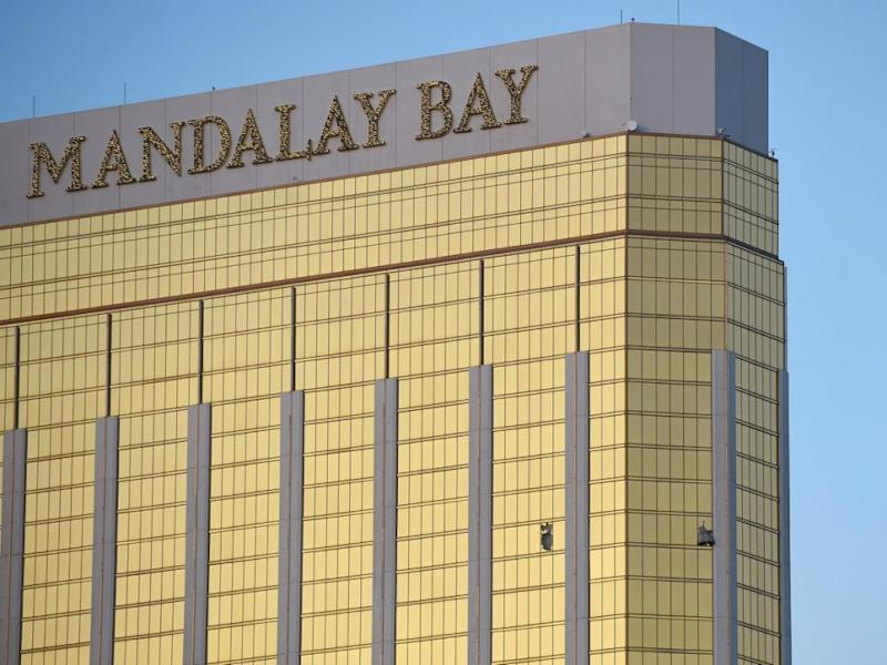 The Mandalay Bay will forever be scarred after the shooting. Photo: Getty