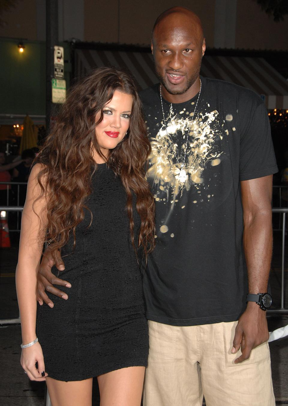 """Khloé Kardashian and """"Lammy"""" when they were hot a new couple — before he cheated on her countless times. (Photo: Steve Granitz/WireImage)"""