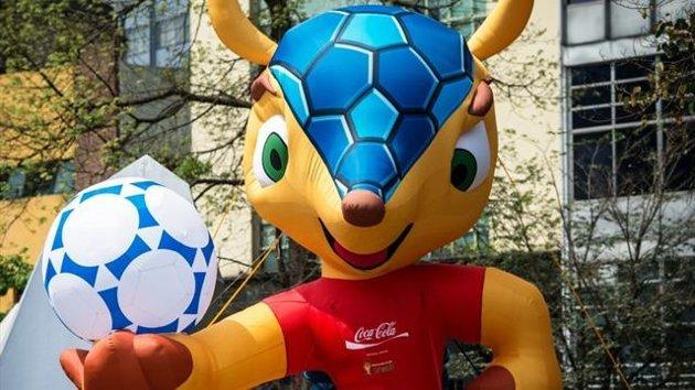 The official Brazil World Cup mascot, Fuleco (AFP)