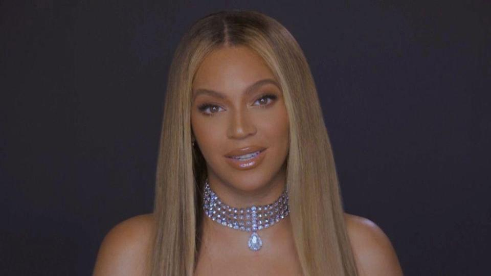 VARIOUS CITIES - JUNE 28: In this screengrab, Beyoncé is seen during the 2020 BET Awards. The 20th annual BET Awards, which aired June 28, 2020, was held virtually due to restrictions to slow the spread of COVID-19. (Photo by BET Awards 2020/Getty Images via Getty Images) (Photo: BET Awards 2020 via Getty Images via Getty Images)
