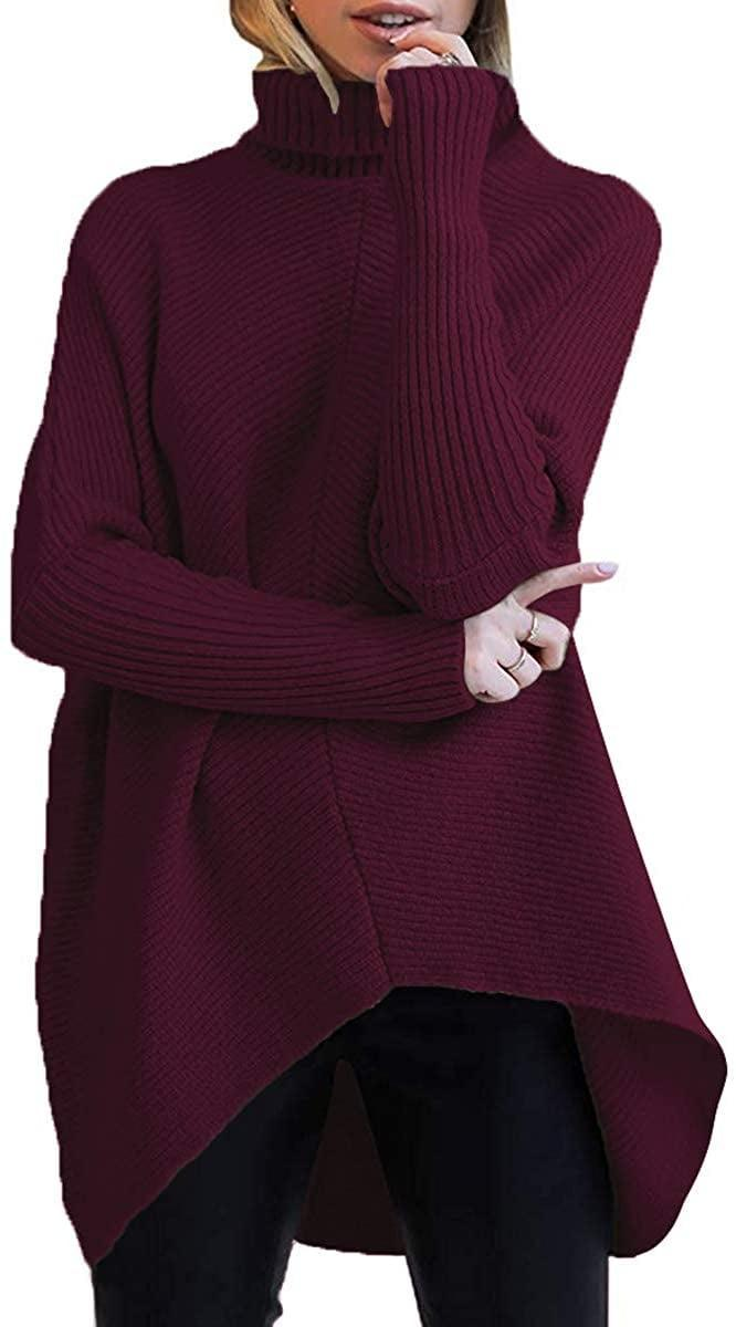<p>This <span>Turtleneck Long Sleeve Sweater</span> ($36) in wine red is perfect for the holidays.</p>