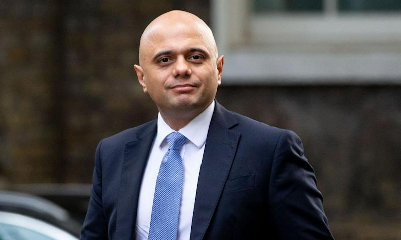 Home secretary Sajid Javid, whose tweet has been branded 'irresponsible and divisive'.