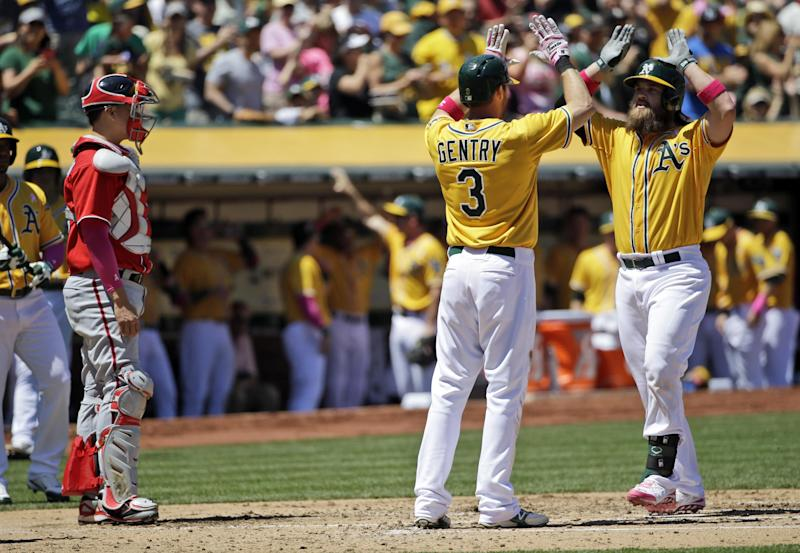 Norris homers twice; A's complete sweep of Nats