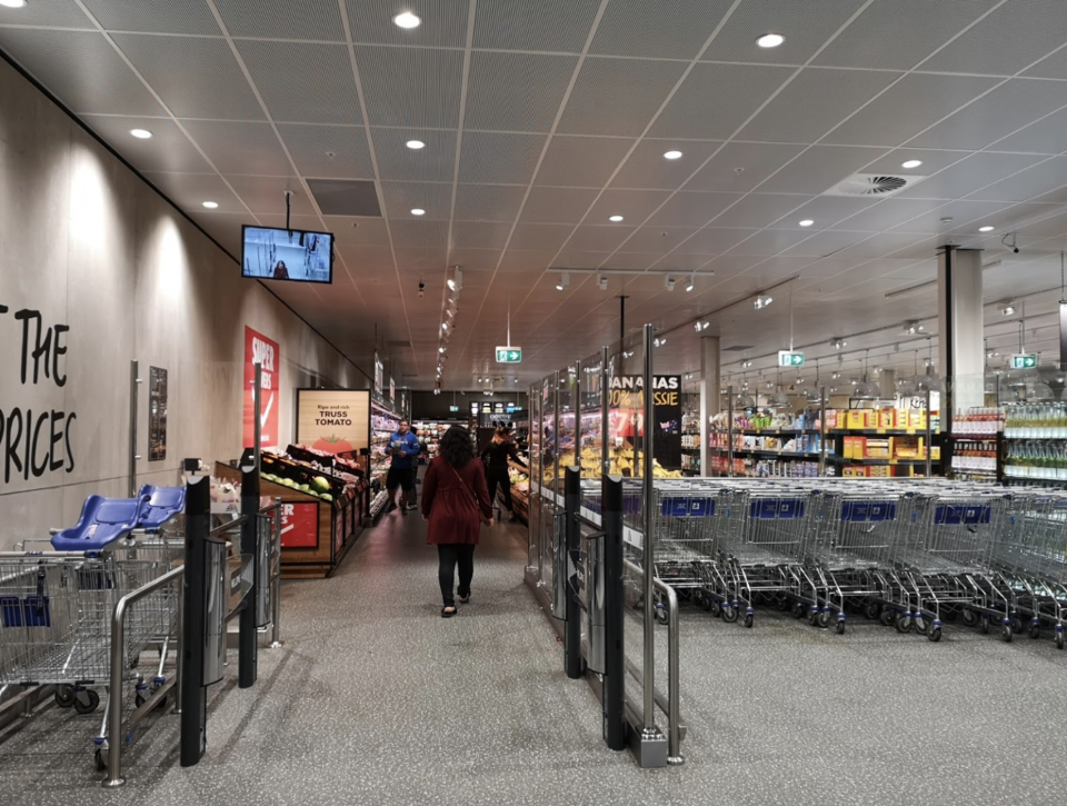 Aldi trolleys at the Rhodes store in Sydney. Source: Google Maps