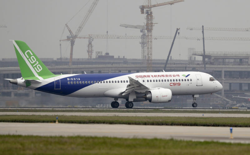 China's new passenger jet finishes first long-haul flight