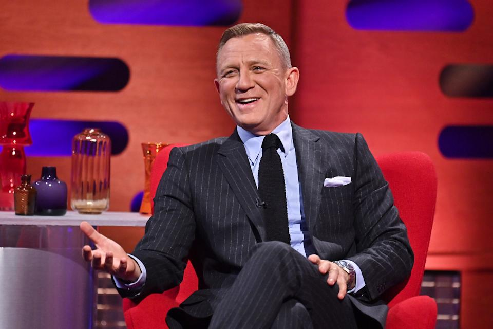 EDITORIAL USE ONLY Daniel Craig during filming for the Graham Norton Show at BBC Studioworks 6 Television Centre, Wood Lane, London, to be aired on BBC One on Friday.